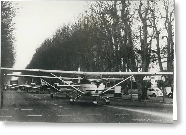 Light Aircraft In March Past Greeting Card by Retro Images Archive
