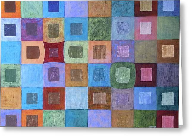 Light And Colour Breathing Greeting Card by Jennifer Baird