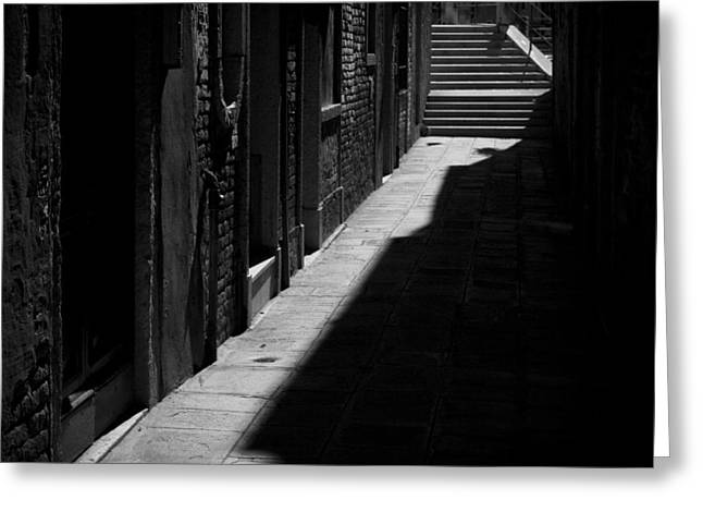 Greeting Card featuring the photograph Light And Shadow - Venice by Lisa Parrish