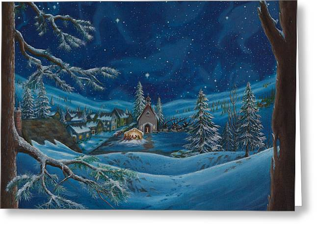 Light And The Darkest Night Greeting Card by Matt Konar