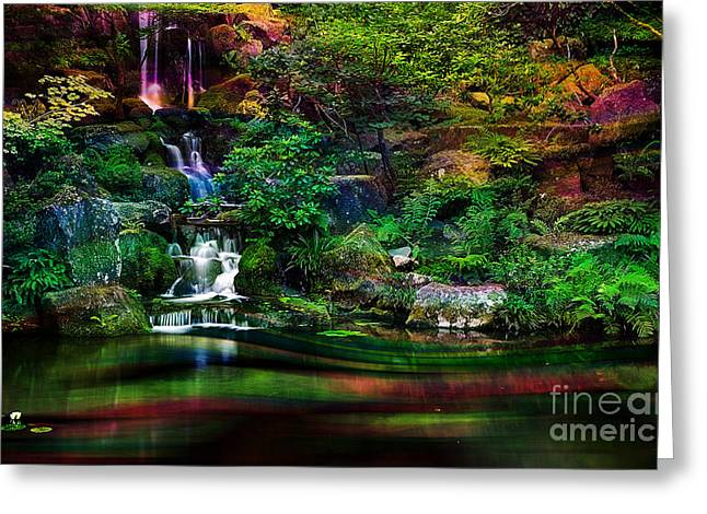 Light And Water Greeting Card by Marvin Blaine