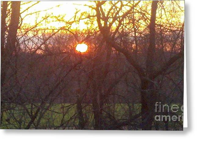 Light At Sunrise Greeting Card