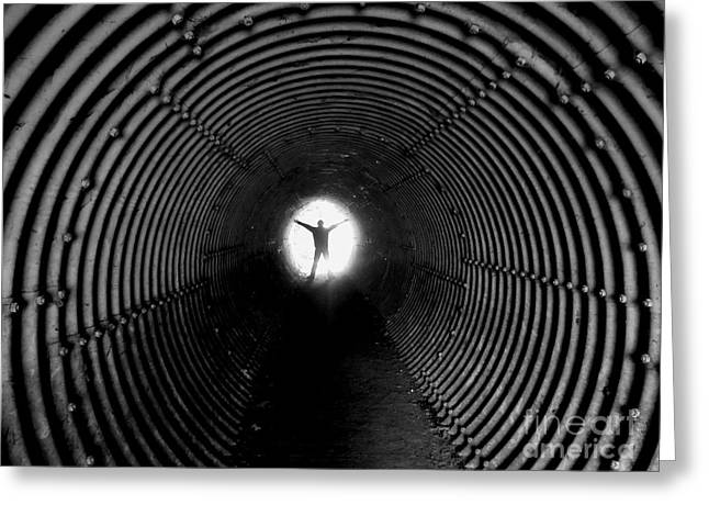 Light At The End Of The Tunnel? Greeting Card by C Lythgo