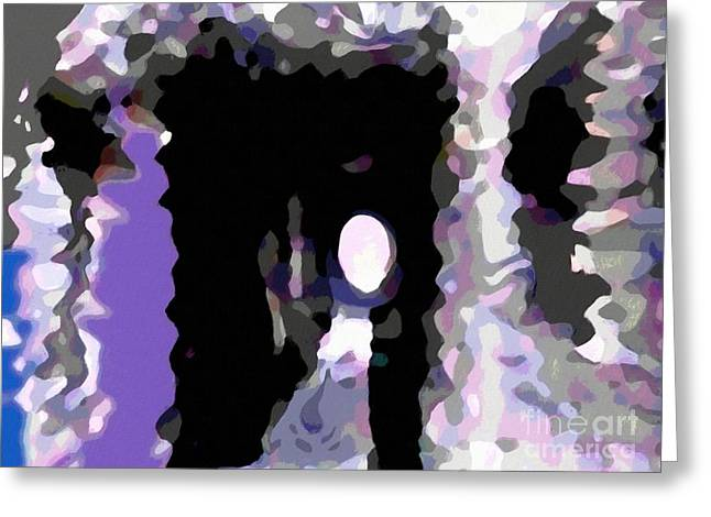 Light At The End Of The Tunnel Digital Painting Greeting Card by Barbara Griffin