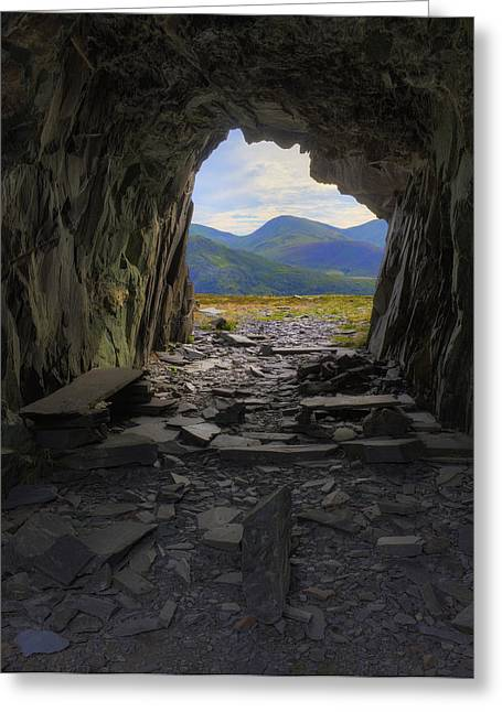 Light At The End Of The Tunnel Greeting Card by Ian Mitchell