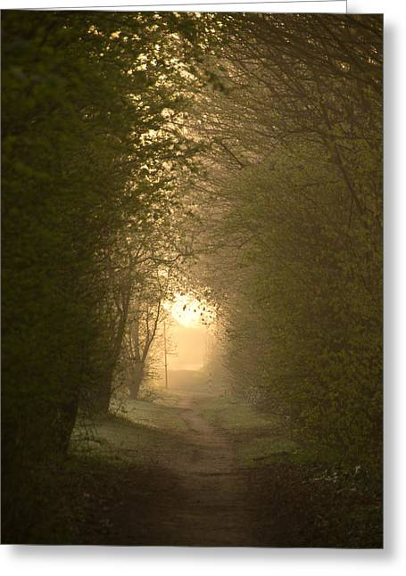 Light At The End Of The Tunnel Greeting Card by Maxim Van Asseldonk