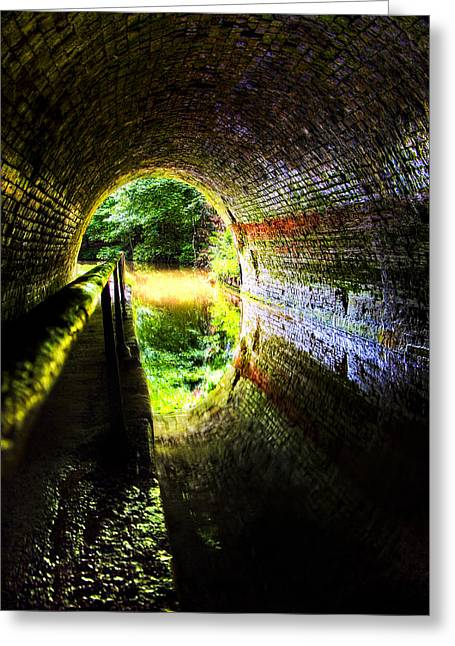 Greeting Card featuring the photograph Light At The End Of The Tunnel by Meirion Matthias