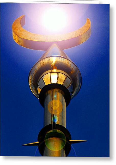 Moon And Sun University Of Tampa Greeting Card