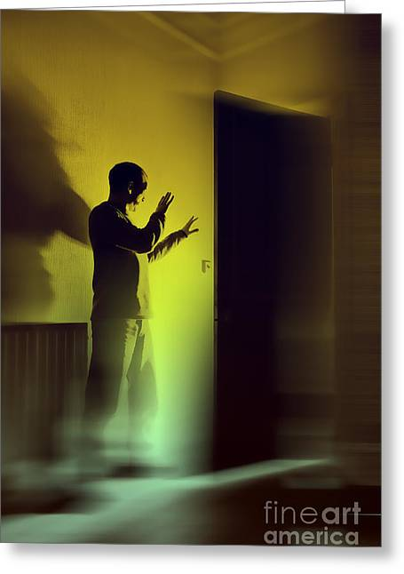 Greeting Card featuring the photograph Light Behind Door by Craig B