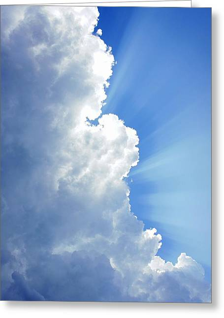 Light Behind The Clouds Greeting Card by Thomas Fouch