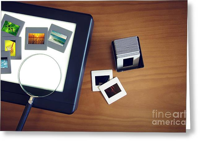 Light-box Greeting Card by Carlos Caetano