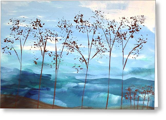 Greeting Card featuring the painting Light Breeze by Linda Bailey