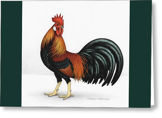 Light Brown Leghorn Greeting Card