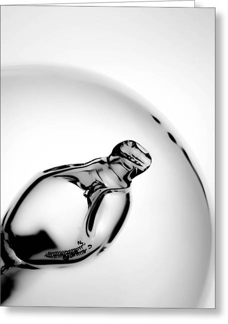 Light Bulb Black And White Greeting Card by Tommytechno Sweden