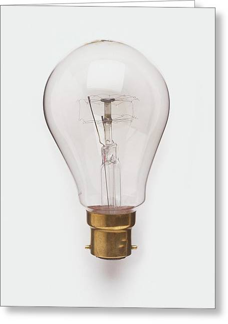 Light Bulb With Bayonet Fitting Greeting Card