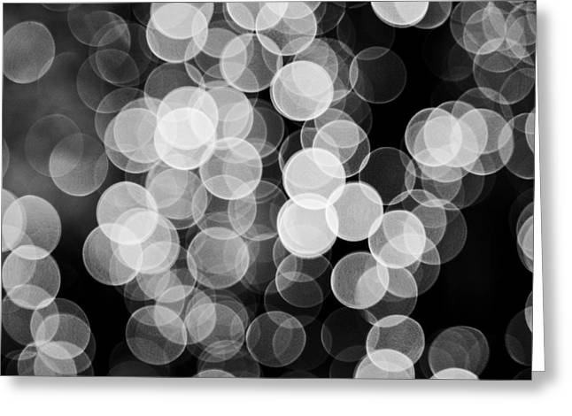 Light Circles Greeting Card by Susan Stone