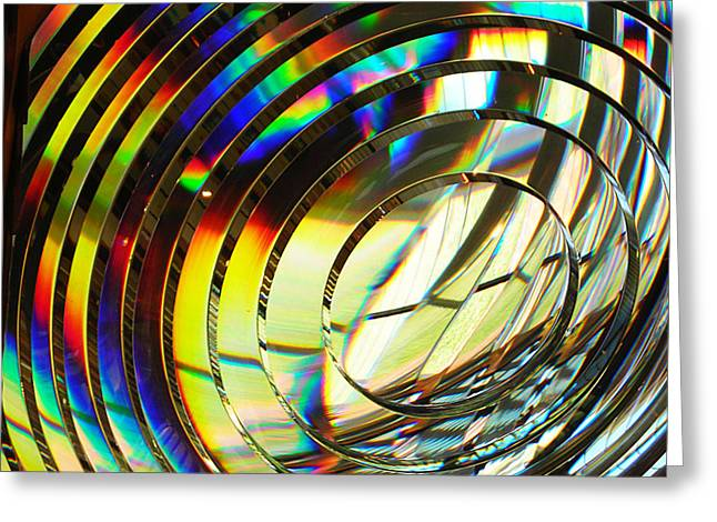 Light Color 1 Prism Rainbow Glass Abstract By Jan Marvin Studios Greeting Card