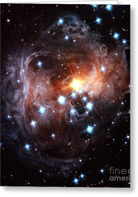 Light Echo Around Star V838 Monocerotis Greeting Card by Science Source