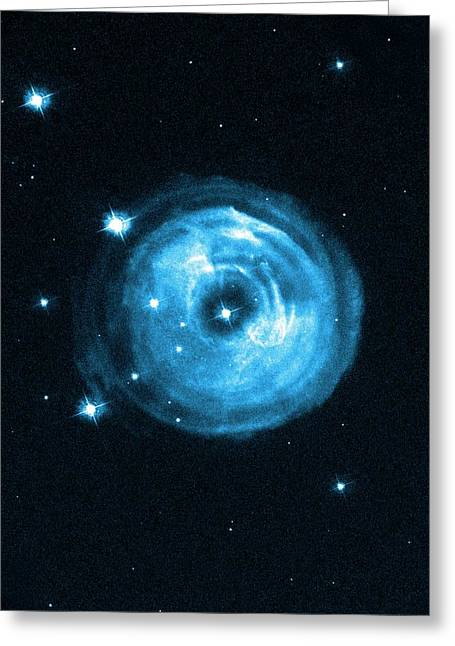 Light Echoes From Exploding Star Greeting Card by Nasa, Esa And H.e. Bond (stsci)