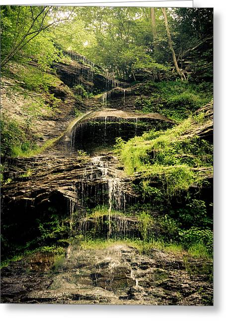 light flow at Cathedral Falls Greeting Card