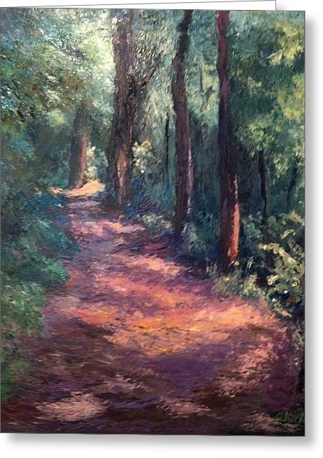 Light For My Path Greeting Card by Gail Kirtz