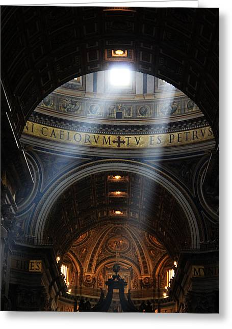 Light From Above Greeting Card