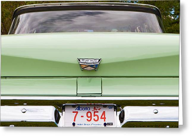 Greeting Card featuring the photograph Light Green Classic Car by Mick Flynn