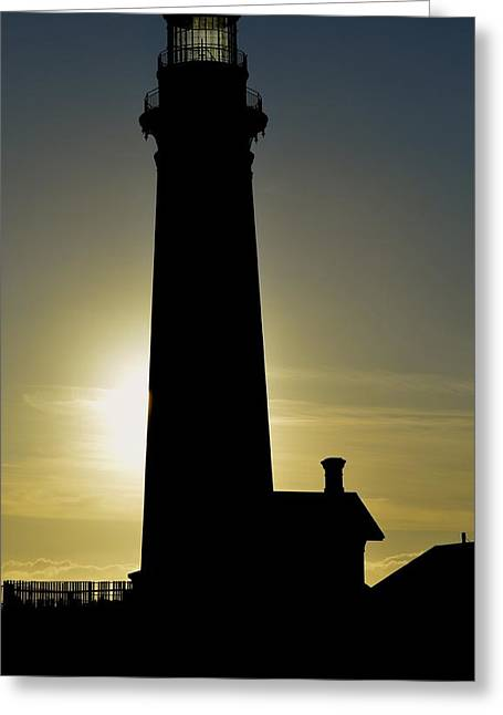 Greeting Card featuring the photograph Light House by Alex King