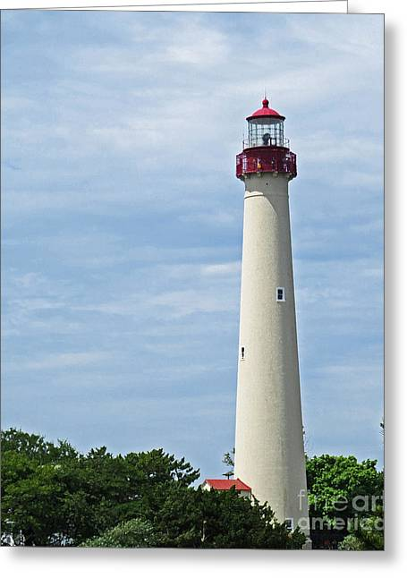 Light House At Cape May Nj Greeting Card