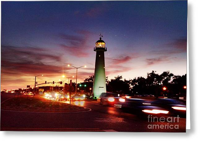 Light House Greeting Card by Janice Spivey