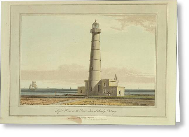 Light House On The Start Greeting Card by British Library