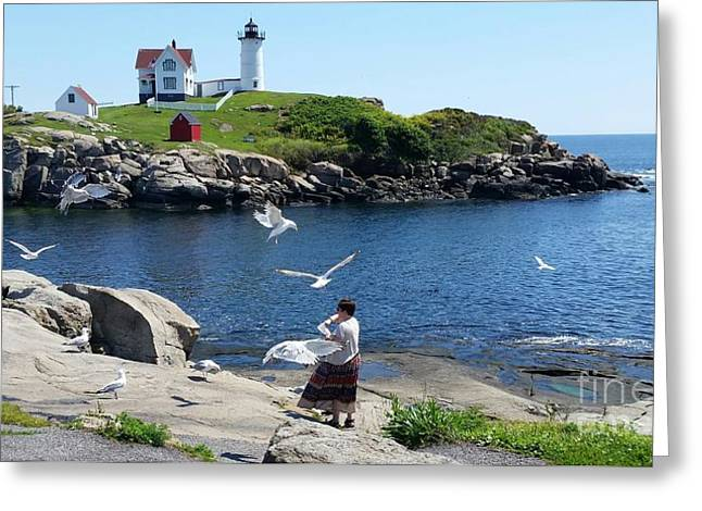 Greeting Card featuring the photograph Light House by Rose Wang