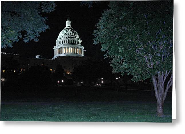 Light In The Capitol Greeting Card by Frank Savarese