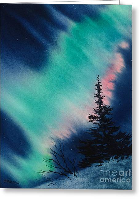 Light In The Dark Of Night Greeting Card