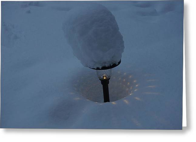 Light In The Snow Greeting Card