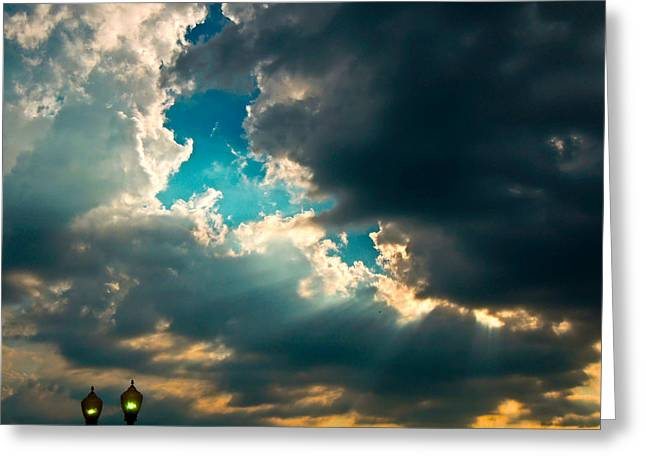 Light In The Storm Greeting Card by Pete Trenholm