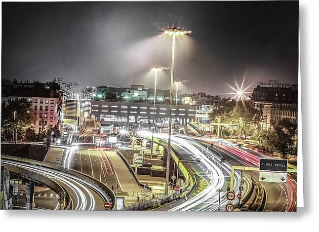 Greeting Card featuring the photograph Light Moves by Stwayne Keubrick