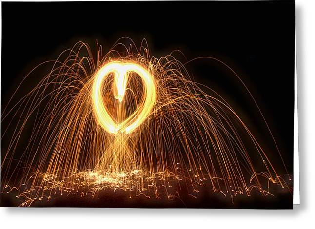 Light My Fire Greeting Card by Dan Sproul