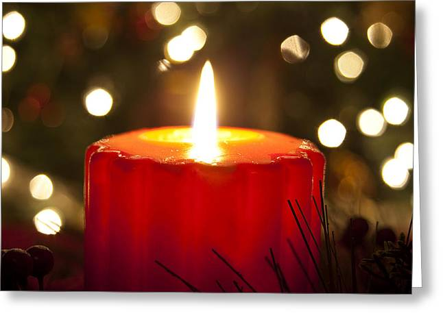 Light Of Christmas Greeting Card by Andrew Soundarajan
