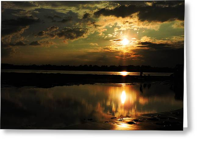 Light Of The Evening Greeting Card by Ayan Mukherjee