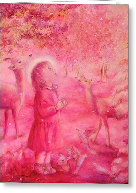 Light Of The Heart Greeting Card by Marija Schwarz