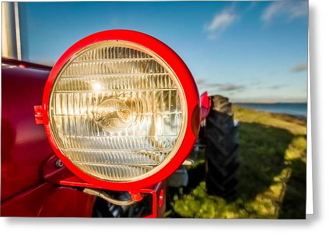 Light Of Tractor, Flatey Island Greeting Card by Panoramic Images