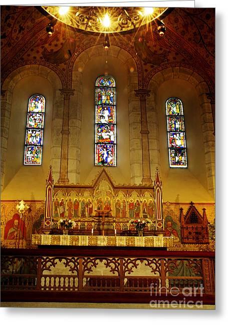 Light Of Worship  Greeting Card by Ladi  Kirn