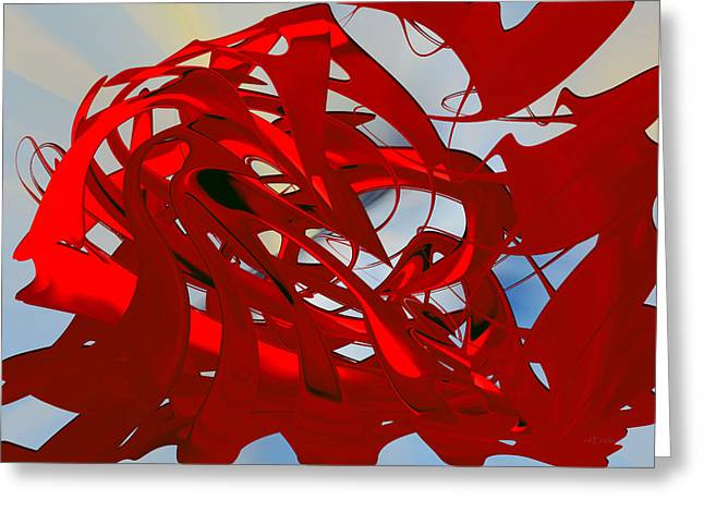 Light On Red - Abstract Greeting Card