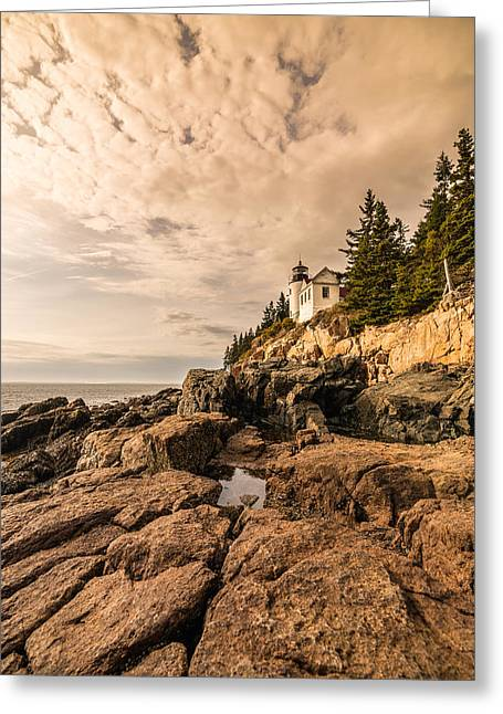 Light On The Rocks Greeting Card by Kristopher Schoenleber