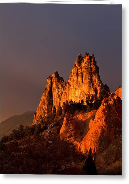 Greeting Card featuring the photograph Light On The Rocks by Ronda Kimbrow