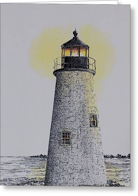 Light On The Sound Greeting Card by Tony Ruggiero