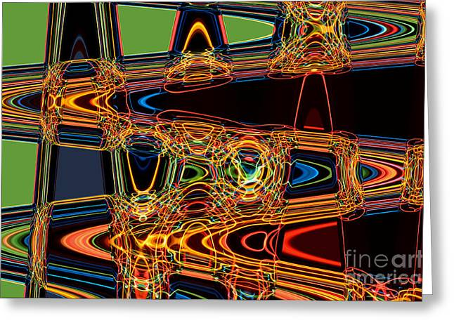 Light Painting 3 Greeting Card by Delphimages Photo Creations