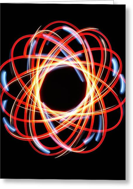 Light Patterns 002 Greeting Card by Todd Soderstrom