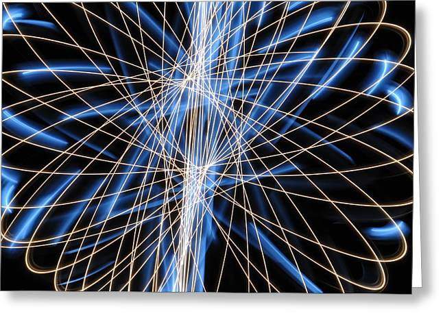 Light Patterns 006 Greeting Card by Todd Soderstrom